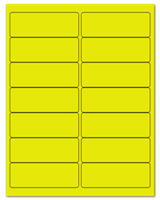 "4"" X 1.4375"" Fluorescent Yellow Sheets"