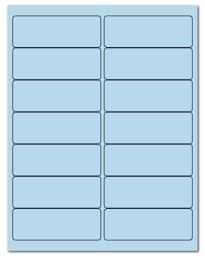 "4"" X 1.4375"" Pastel Blue Sheets"