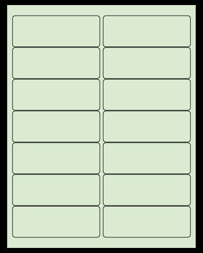 "4"" X 1.4375"" Pastel Green Sheets"