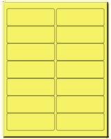 "4"" X 1.4375"" Pastel Yellow Sheets"