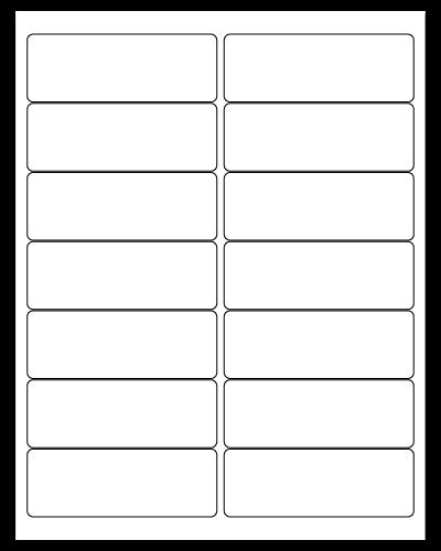 """4"""" X 1.4375"""" White Matte Sheets"""