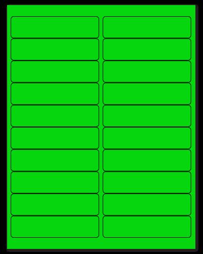 """4"""" X 1"""" Fluorescent Green Sheets"""