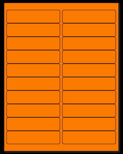 "4"" X 1"" Fluorescent Orange Sheets"