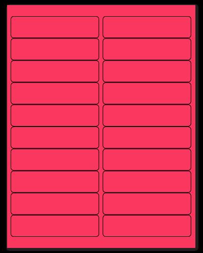 "4"" X 1"" Fluorescent Pink Sheets"