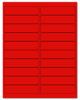 """4"""" X 1"""" Fluorescent Red Sheets"""