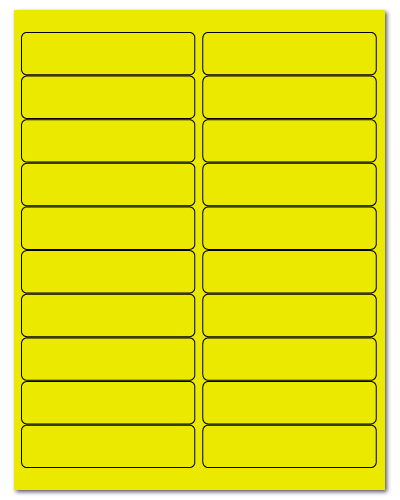 "4"" X 1"" Fluorescent Yellow Sheets"