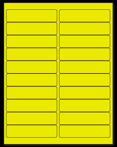 "4"" X 1"" Fluorescent Yellow Sheets"