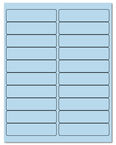 "4"" X 1"" Pastel Blue Sheets"