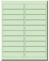 "4"" X 1"" Pastel Green Sheets"
