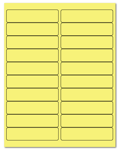 "4"" X 1"" Pastel Yellow Sheets"