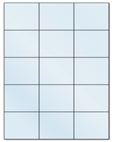 "2.83"" X 2.2"" Frosty (Matte) Clear Sheets"