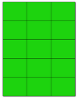 """2.83"""" X 2.2"""" Fluorescent Green Sheets"""
