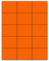 "2.83"" X 2.2"" Fluorescent Orange Sheets"