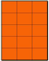 "2.83"" X 2.2"" Fluorescent Orange Sheets"