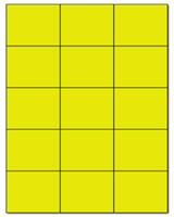 "2.83"" X 2.2"" Fluorescent Yellow Sheets"