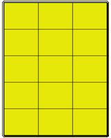 "2.83"" X 2.2"" Fluorescent Yellow Sheets"