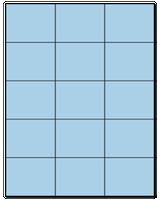 "2.83"" X 2.2"" Pastel Blue Sheets"