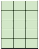 "2.83"" X 2.2"" Pastel Green Sheets"