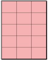 "2.83"" X 2.2"" Pastel Pink Sheets"