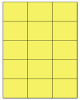 "2.83"" X 2.2"" Pastel Yellow Sheets"