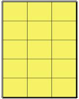 "2.83"" X 2.2"" Pastel Yellow Sheets"