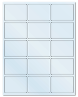 "2.688"" X 2"" Frosty (Matte) Clear Sheets"