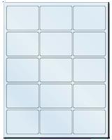 "2.688"" X 2"" Frosty (Matte) Clear Sheets"