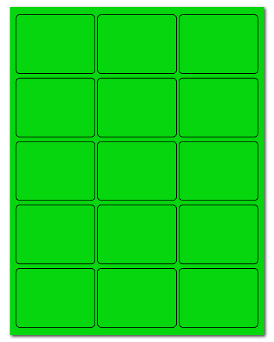 "2.688"" X 2"" Fluorescent Green Sheets"