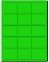 """2.688"""" X 2"""" Fluorescent Green Sheets"""