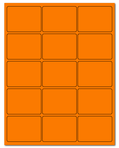 "2.688"" X 2"" Fluorescent Orange Sheets"