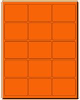 "2.688"" X 2"" Fluorescent Orange Sheets"