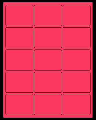 "2.688"" X 2"" Fluorescent Pink Sheets"