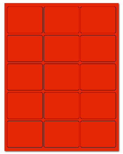 """2.688"""" X 2"""" Fluorescent Red Sheets"""