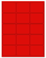 "2.688"" X 2"" Fluorescent Red Sheets"