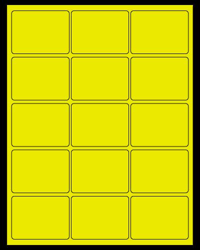 "2.688"" X 2"" Fluorescent Yellow Sheets"