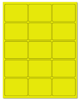 "2.688"" X 2"" Fluorescent Yellow Sheets"
