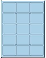 "2.688"" X 2"" Pastel Blue Sheets"