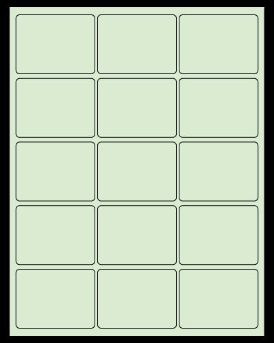 "2.688"" X 2"" Pastel Green Sheets"