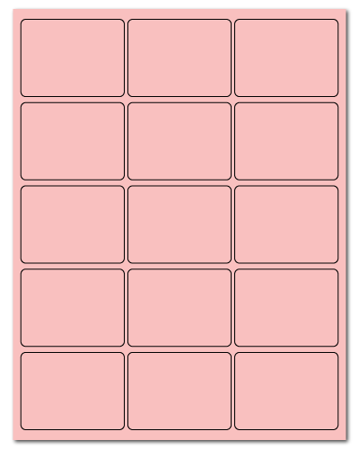 "2.688"" X 2"" Pastel Pink Sheets"