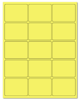 "2.688"" X 2"" Pastel Yellow Sheets"