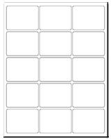 """2.688"""" X 2"""" White Matte Sheets"""