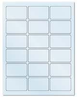 "2.5"" X 1.563"" Frosty (Matte) Clear Sheets"