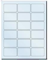 "2.5"" X 1.563"" Frosty (Matte) Clear Sheets"