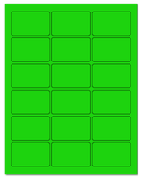 "2.5"" X 1.563"" Fluorescent Green Sheets"