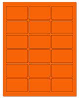 "2.5"" X 1.563"" Fluorescent Orange Sheets"