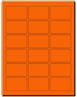 "2.5"" X 1.563"" Fluorescent Orange Sheets"