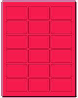 "2.5"" X 1.563"" Fluorescent Pink Sheets"