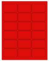 """2.5"""" X 1.563"""" Fluorescent Red Sheets"""