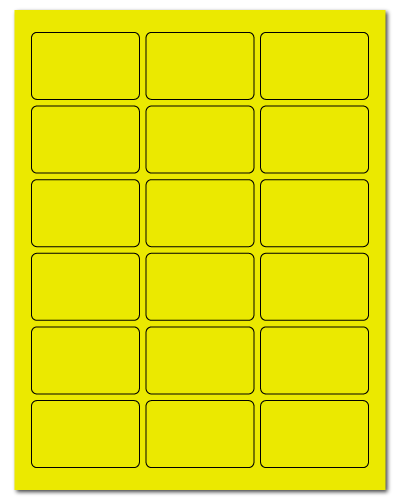 "2.5"" X 1.563"" Fluorescent Yellow Sheets"