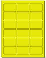 "2.5"" X 1.563"" Fluorescent Yellow Sheets"